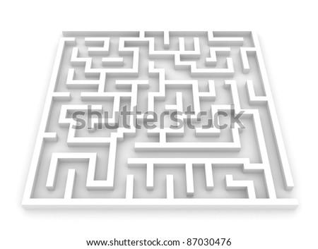 3D Illustration of a Maze - stock photo