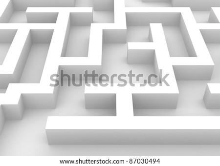 3D Illustration of a Maze up close - stock photo