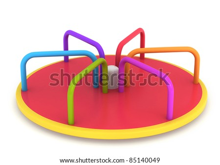 3D Illustration of a Merry Go Round - stock photo