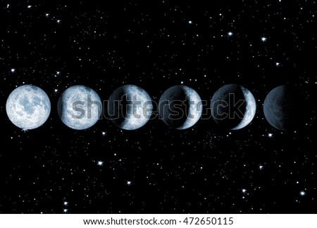 3d illustration of a moon eclipse on a starry sky