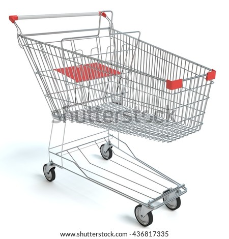 3d illustration of a shopping cart