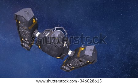3D illustration of a space ship