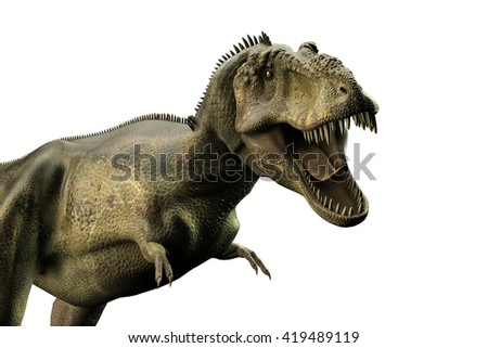 3d illustration of a Tyrannosaurus rex isolated on white background