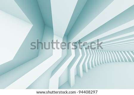 3d Illustration of Abstract Architecture Background - stock photo