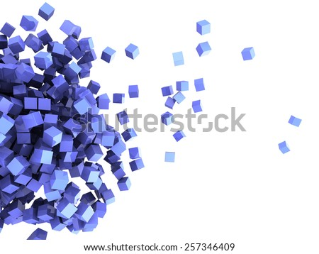 3d illustration of abstract cubes background - stock photo