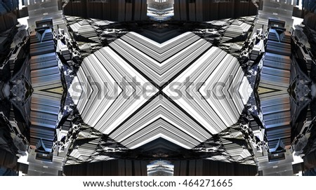 3d illustration of abstract geometric composition