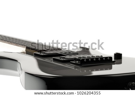 3d illustration of an electric guitar isolated on white background