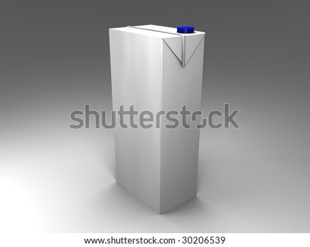 3d illustration of an isolated carton with blue screw cap - stock photo