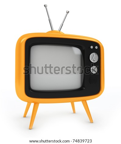 3D Illustration of an Old-fashioned Television
