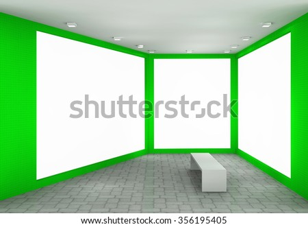 3d illustration of an outdoor advertisement - stock photo