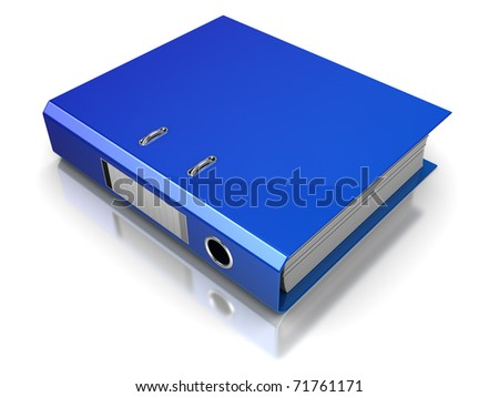 3d illustration of archive folder, over white - stock photo