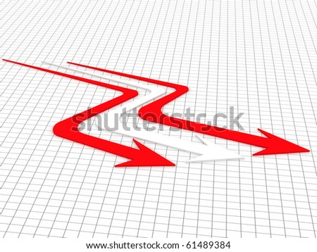 3d illustration of arrow in white background