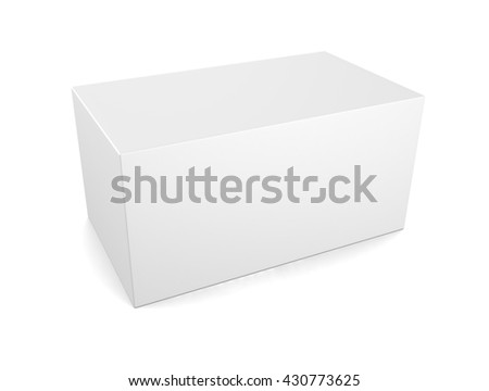 3d illustration of  blank box isolated on white background