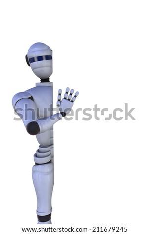 3D illustration of business robot - stock photo