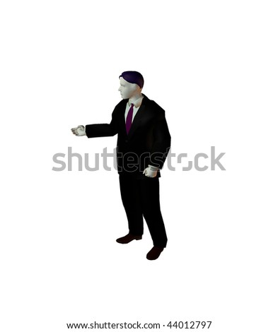 3D illustration of businessman