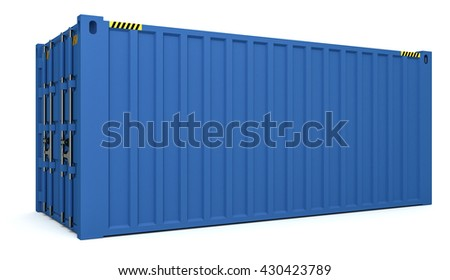 3D Illustration of Cargo containers isolated on white - stock photo