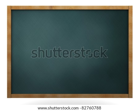 3d illustration of chalkboard isolated over white background