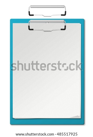 3d illustration of Clipboard and blank paper