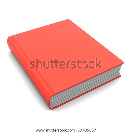3d illustration of closed red book over white background - stock photo