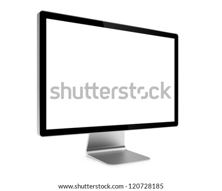 3d illustration of computer screen isolated - stock photo