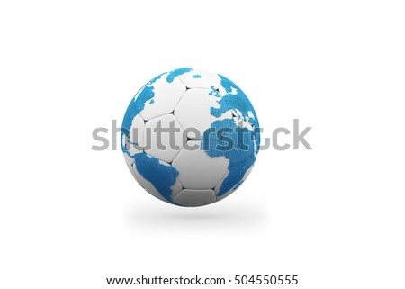 3D illustration of earth. Concept art.