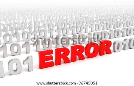 3d illustration of error in code consept - stock photo