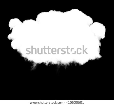 3D illustration of explosion cloud silhouette - stock photo