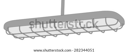 2d illustration of fluorescent light
