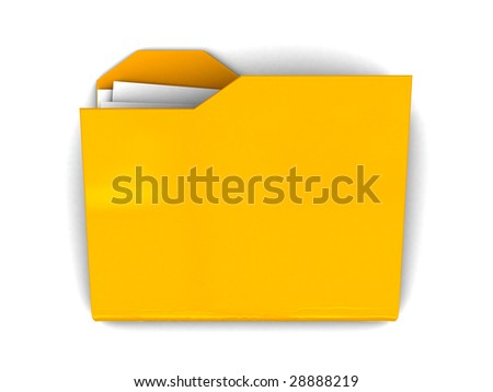 3d illustration of folder icon over white background, with shadow