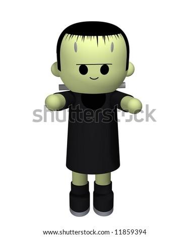 3D illustration of Frankensteins monster - stock photo