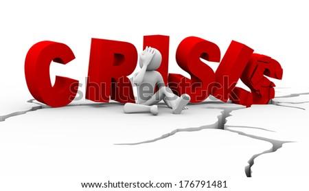 hombre crisis: