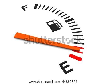 3d illustration of generic fuel meter over white background