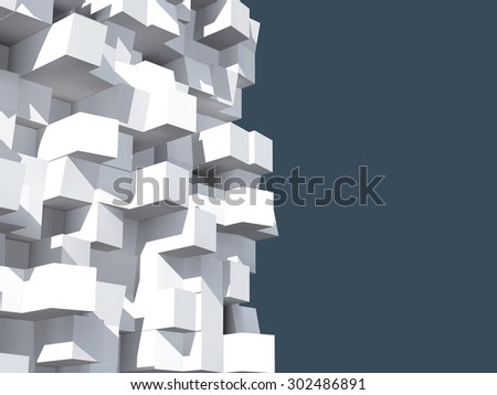 3d illustration of geometric shapes isolated with clipping path - stock photo