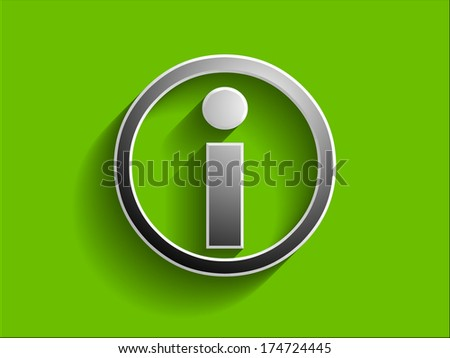 3d illustration of info icon