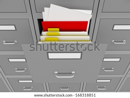 3d illustration of information search metaphor. - stock photo
