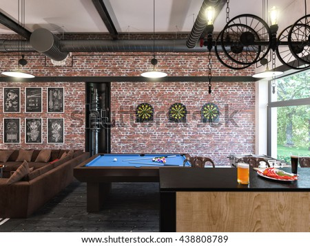 Loft Apartment Brick Stock Images RoyaltyFree Images Vectors