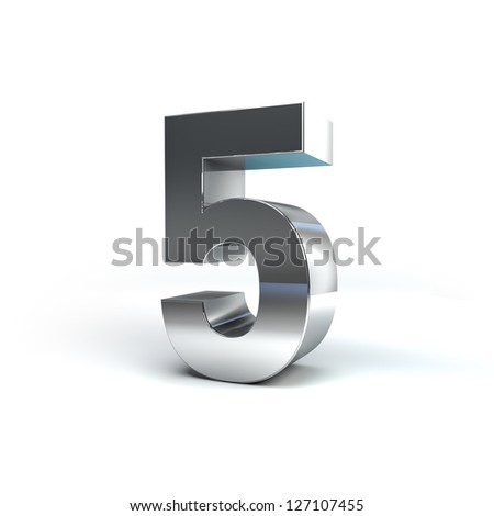 3D Illustration of Metal Character Render isolated on White Background - stock photo
