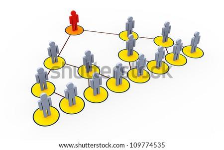 3d illustration of mlm - multi level marketing concept - stock photo