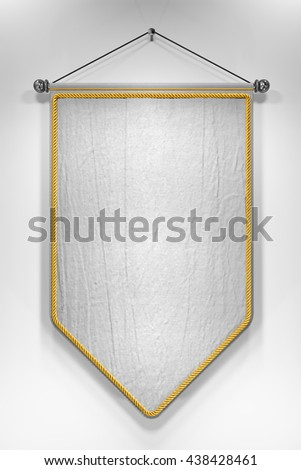 3D illustration of mock up pennant with highly detailed texture. - stock photo