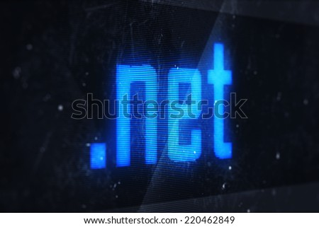 3d illustration of net domain names and internet concept digital screen  - stock photo