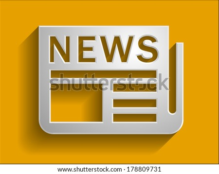 3d  illustration of news icon - stock photo