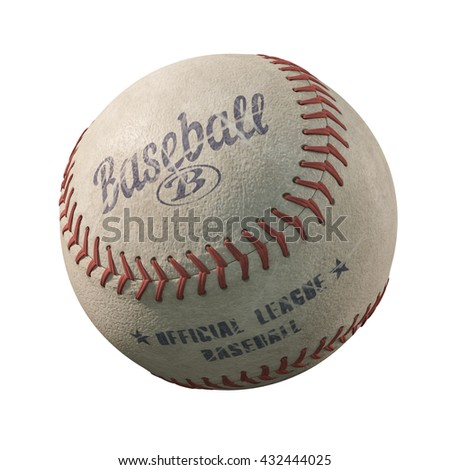 3d illustration of old  baseball isolated on white