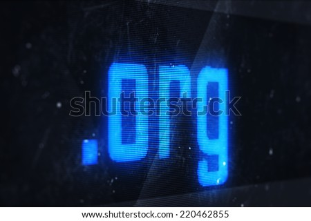 3d illustration of org domain names and internet concept digital screen  - stock photo