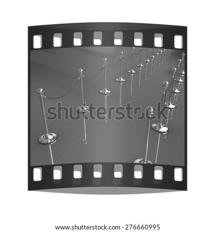 3d illustration of path to the success. The film strip - stock photo