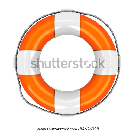 3d illustration of rescue circle isolated over white background - stock photo