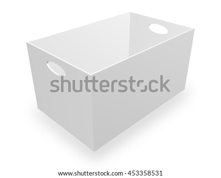3d illustration of shopping basket isolated on white background.