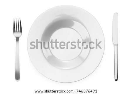 3d illustration of some typical style dishware