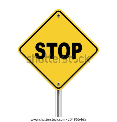 3d illustration of stop road sign isolated on white background