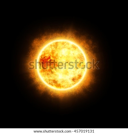3D Illustration of  Sun in Space - stock photo