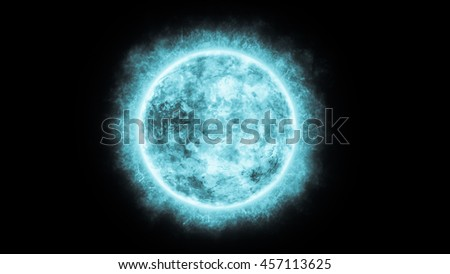 3D Illustration of  Sun in Space